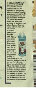 Krantenartikel-glazenwasser